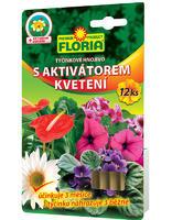 FLORIA Tyčinkové hnojivo s aktiv. kvetení  12 ks  + ZDARMA KRISTALON pro pokojové rostliny