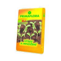 PRIMAFLORA Substrát pro výsev a množení 10 l+ ZDARMA KRISTALON pro pokojové rostliny