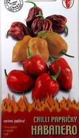 Chilli papričky HABANERO směs chocolate, orange, red  15-20 ks - silně pálivá