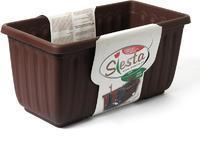 PLASTIA Samozavlažovací truhlík  SIESTA LUX 80 cm - čokoláda