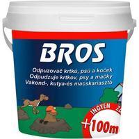 BROS práškový odpuzovač krtků, psů a koček 350ml + 100 ml zdarma