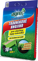 AGRO Trávníkové hnojivo pytel 10 kg + ZDARMA KRISTALON pro pokojové rostliny
