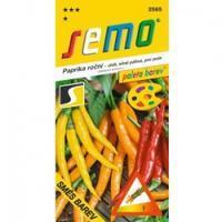 Chilli semínka VÝBĚR - barevné papričky silně pálivé