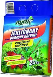 AGRO Podzimní hnojivo pro jehličnany a jiné okrasné dřeviny 2,5 kg