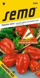 Chilli semínka HABANERO RED 15ks velmi silně pálivá