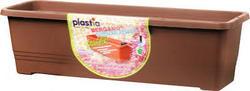 Samozavlažovací truhlík BERGAMOT 50 cm - Čokoláda