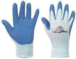 Dětské rukavice CHUNKY -modré/křeček vel 5.