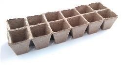 Rašelinový kontejner 6x6 cm - 12 buněk